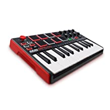 Akai Professional MPK Mini MKII | 25-Key Ultra-Portable USB MIDI Drum Pad & Keyboard Controller with Joystick