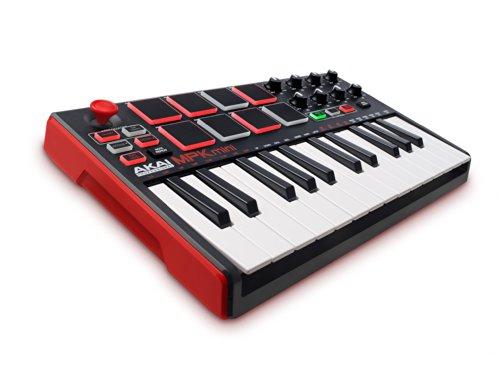 Akai Professional MPK Mini MKII | 25-Key Ultra-Portable USB MIDI Drum Pad & Keyboard Controller with Joystick and