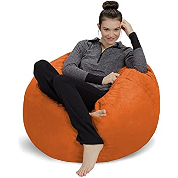 Sofa Sack Bean Bag Chair, 3', Tangerine