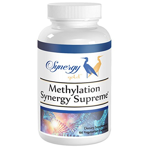 (Methylation Synergy Supreme - MTHFR Support, 5-FTHF and 5-MTHF Folate, TMG, Serine, Nac, Homocysteine Balance, Doctor Recommended - 30 Day Supply VCaps by Synergy Nutritionals)