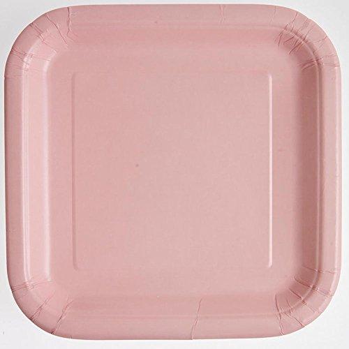 - Square Light Pink Paper Plates, 14ct
