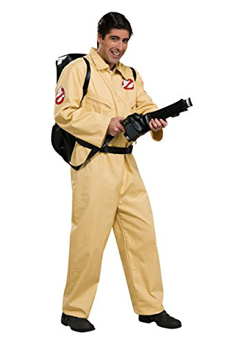 Ghostbusters Costumes For Men - Ghostbusters Deluxe Jumpsuit, Beige, One Size
