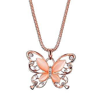 New Fashion Jewelry Silver Plated Openwork Butterfly Pendant Necklace Chic Gift
