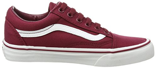 Vans - Old Skool, Zapatillas Unisex adulto, Rojo (canvas/cordovan/true White), 47 EU negro - Black (Canvas - Cordovan/True White)