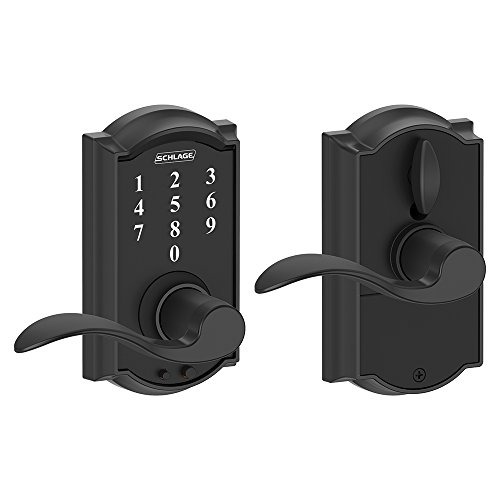 Schlage Touch Camelot Lock with Accent Lever (Matte Black) FE695 CAM 622 ACC