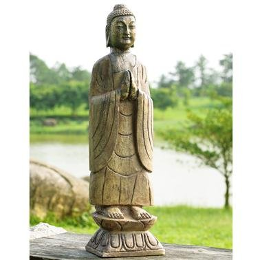 Amazon.com : SPI Home 50720 Meditating Garden Buddha Sculpture ...