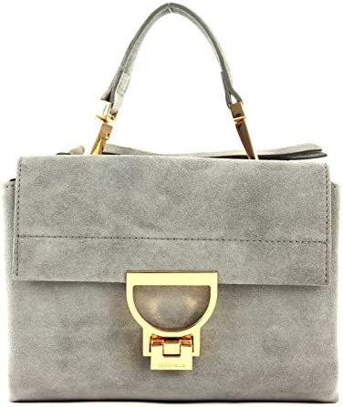 COCCINELLE Arlettis Suede Top Handle Bag Glass