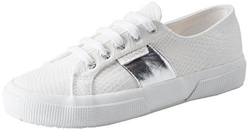 Basso a Superga Sneaker White Collo Pusnakew Donna 2750 1ttwBX