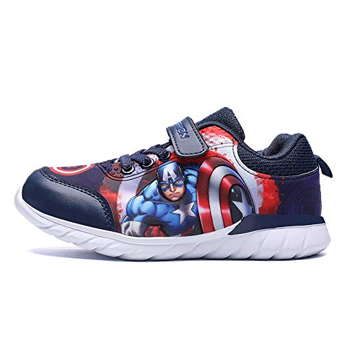 20d4b877 ... Blue ROKIDS Fashion Kids Marvel Avengers Captain America Lightweight  Sneakers Boys 12 Little Kid, ...