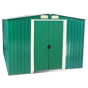 Zelsius–Dispositivo hogar, caseta con gablete techo, 2m x 2,5m, Verde