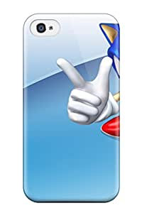 Christmas Gifts New Premium Flip Case Cover Sonic Skin Case For Iphone 4/4s