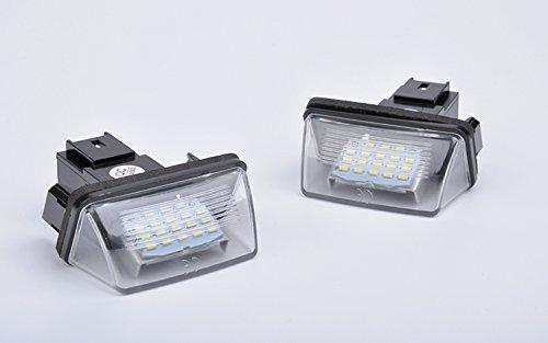 JDWG 2 pezzi della lampada Luce della targa ha condotto la luce del vano bagagli 65000k auto auto bianca ha condotto tronco luce luce del bagagliaio per Peugeot Citroen