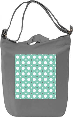 Circles Print Borsa Giornaliera Canvas Canvas Day Bag| 100% Premium Cotton Canvas| DTG Printing|