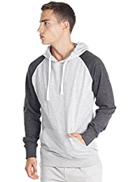 Mens Pullover Sweatshirt Two Tone Hoodie with Fashion Fit