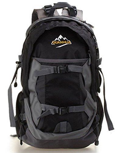 GXS 35L Outdoor Camping Rucksack Bergsteigen Taschen Wasserdicht Wandern Radfahren Paket schwarz - schwarz