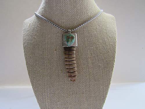 Rattlesnake Rattler Pendant Snake Necklace Turquoise Necklace Spirit Animal Bone Jewelry Boho N383
