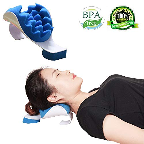 Neck and Shoulder Relaxer Massage Traction Pillow, Tcbasrt Pain Relief Chiropractic Pillow for...