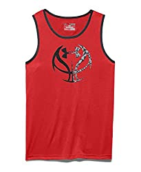 Under Armour Boys' Run 'N Gun Tank, Green Malachite (349), Youth X-Large