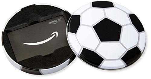 - Amazon.com Gift Card in a Soccer Tin