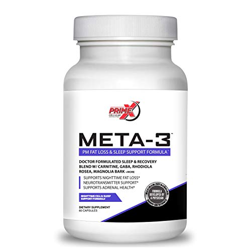 Dr. Eric Prime X Meta-3 Night time Fat Burner and Sleep Aid Supplement for Men and Women (60 Veggie Capsules) Stimulant…