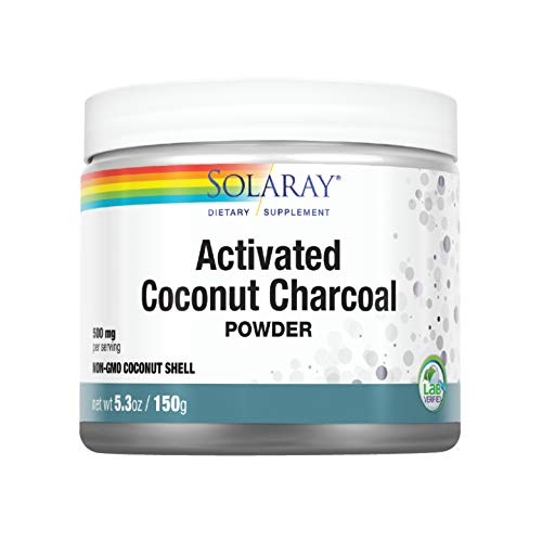 Solaray Activated Coconut Charcoal Powder   Non-GMO Coconut Shell   150g