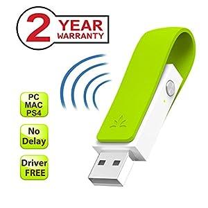 Avantree LONG RANGE Bluetooth USB Adapter for Headphones, Speakers, Driver-Free Wireless Audio Dongle Transmitter, Plug-n-Play, aptX Low Latency, for PC Mac PS4 Nintendo Switch Linux [24M Warranty]