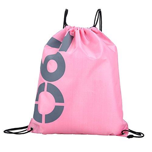 巾着バッグ巾着バックパック – 3442 CMダブルレイヤドローストリング防水バックパックカラフルショルダーバッグ水泳バッグのアウトドアスポーツea14 – 文字列バックパック B074QNN6G3E