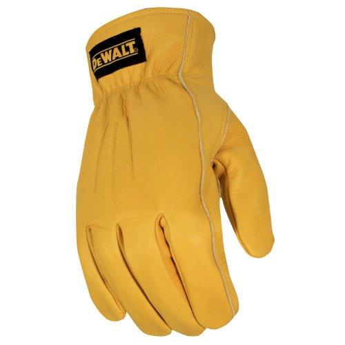 Dewalt Leather Work Gloves (Dewalt DPG34M Thinsulate Thermal Lined Cowhide Driver, Medium)
