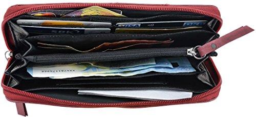 """Gusti Leder studio """"Irma"""" portafogli borsa da sera banconote monete pratico vera pelle rosso 2A130-29-3"""