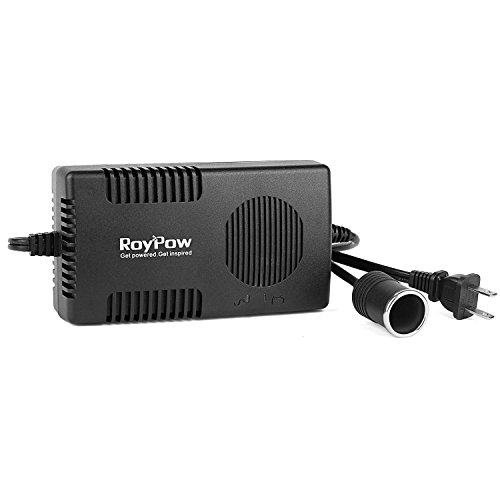 RoyPow 120W (Max 150W) Power Supply AC to DC Adapter 110V/120V to 12V Car Cigarette Lighter Socket 12V/10A DC Power Converter Transformer