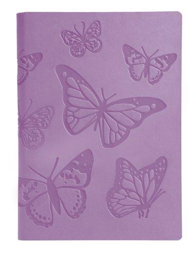 Eccolo World Traveler Flexible Journal, 6 x 8 Inches, Lavender Butterflies (D411)