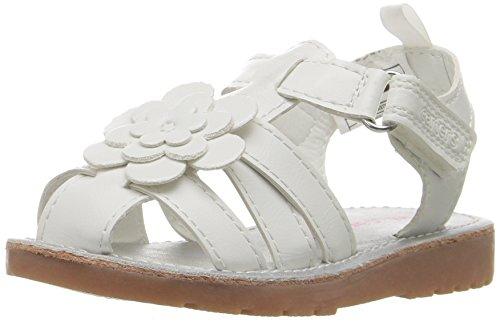 carter's Misty Girl's White Fisherman Sandal, White, 8 M US Toddler