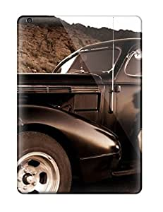 New Premium GNgmqlo3429MeKOE Case Cover For Ipad Air/ Girl And Vintage Car Sepia Old Looking Photo Car Protective Case Cover