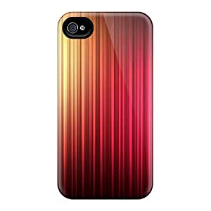 For Iphone 4/4s Premium Tpu Case Cover Aurora Colors Abstract Protective Case