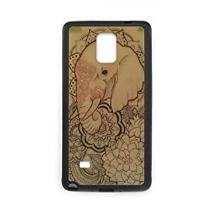 Samsung galaxy note 4 N9100 Elephant flower Phone Back Case DIY Art Print Design Hard Shell Protection FG054071