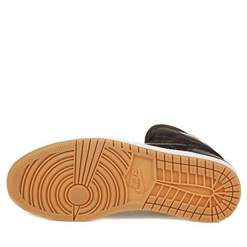 Nike Mens Air Jordan 1 Scarpe Da Pallacanestro In Pelle Rosso-bianco Nero Alta Qualità / Premier Per Laser Nero