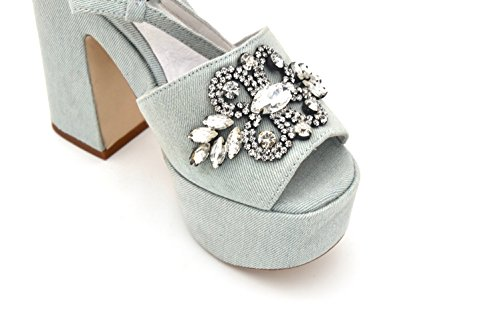 in Sandalo Nikko Chiaro Jeffrey Blu Women's Blue Denim Campbell HqaIO7
