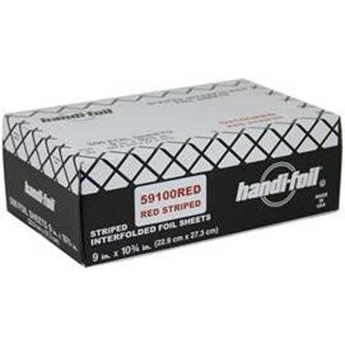 Handi Foil Interfolded Red Foil Sheets -- 3000 per case. by Handi-Foil