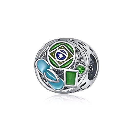 - 1pcs Silver European Charm Round Beads Fit 925 Necklace Bracelet Pendant Chain