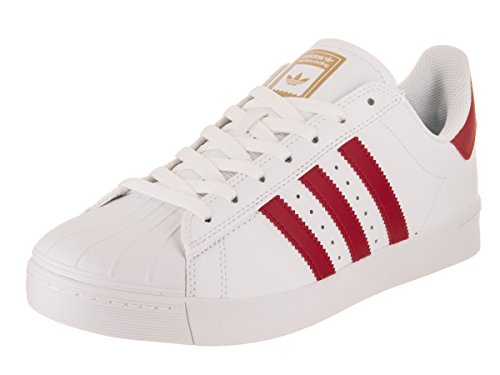Adidas Men's Superstar Vulc ADV Ftwwht/Scarle/Goldmt Skate Shoe 9.5 Men US (Adidas Star)