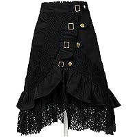 taiduosheng Steampunk Party Club Wear de la mujer Punk Gótico Retro falda de encaje negro