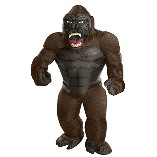 Costume Kings La Halloween (Rubie's Costume Co. Men's Skull Island Inflatable King Kong Costume, As Shown, One)