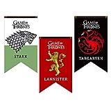 Game of Thrones House Banner, House Stark, Targaryen, Lannister Game of Thrones House Sigil Wall Banner