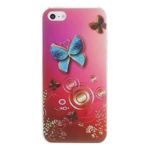 TY-Patrón de mariposa dura del caso para el iPhone PC agraciada 5/5S