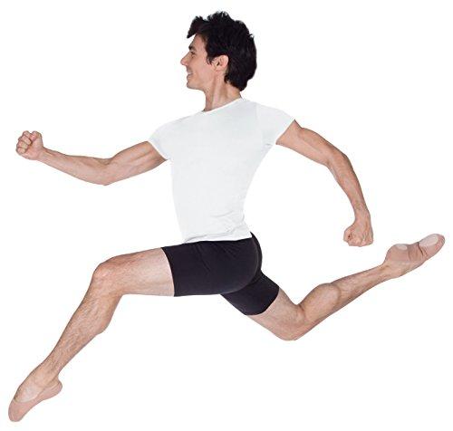 Body Wrappers Dancewear Short Sleeve Pullover Shirt, White, Medium (Sassy Dance Costumes)