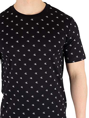 Petit T Monogramme Klein Large Homme Jeans shirt Calvin Noir PwxtOX
