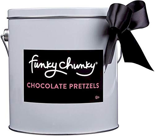 Funky Chunky Pail Gift Tin, Chocolate Pretzel by Funky Chunky