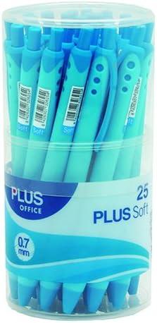 color azul Plus Office 081108 Pack de 3 bol/ígrafos