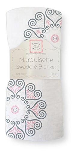SwaddleDesigns Marquisette Swaddling Blanket Medallions