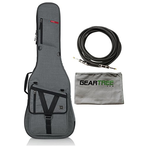 Gator GT-ELECTRIC-G GRAY Transit Electric Guitar Gig Bag with Light Grey Exterio